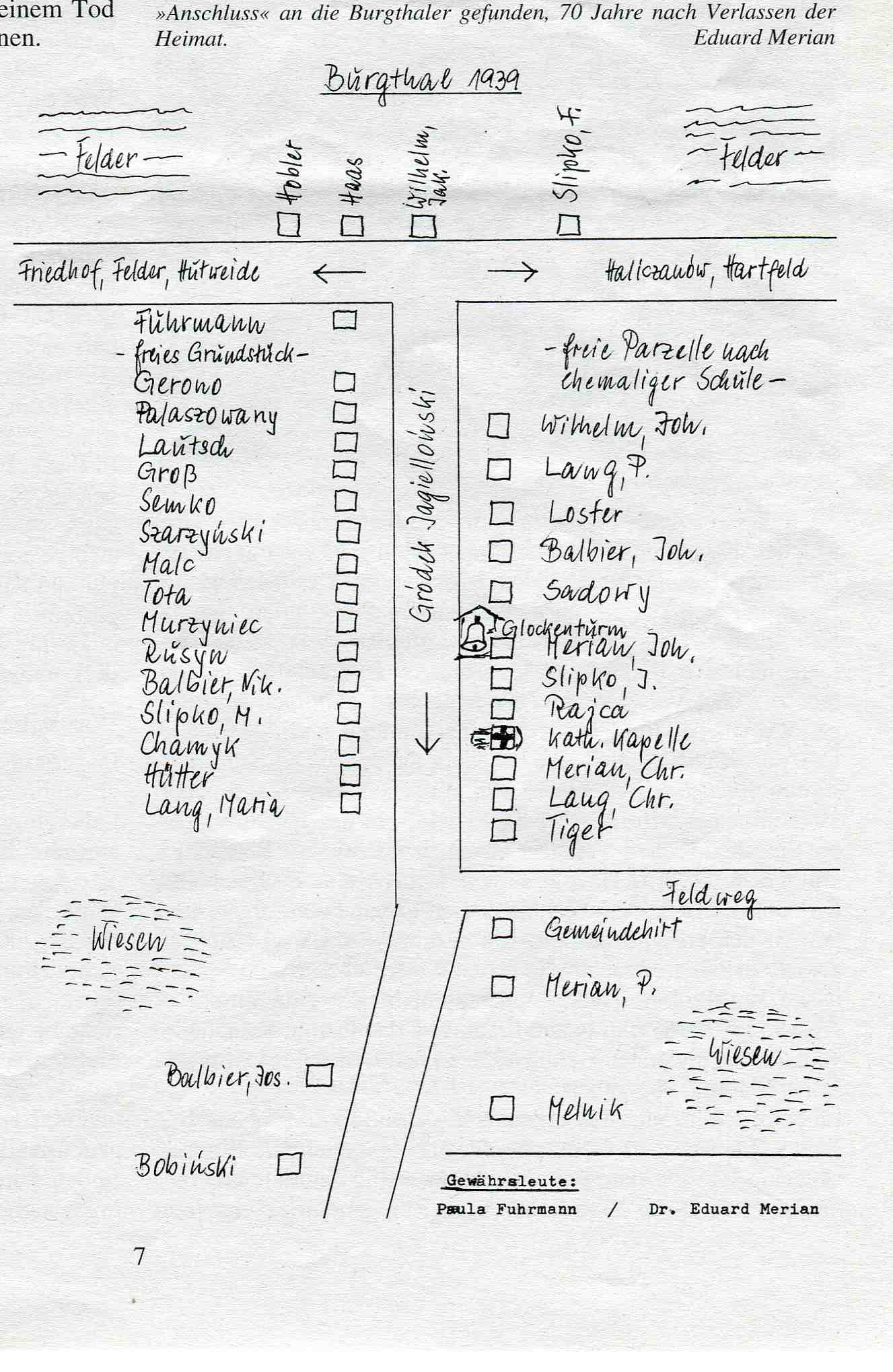 Plan von Burgthal 1939(bereitgestellt von Alfred Konrad)