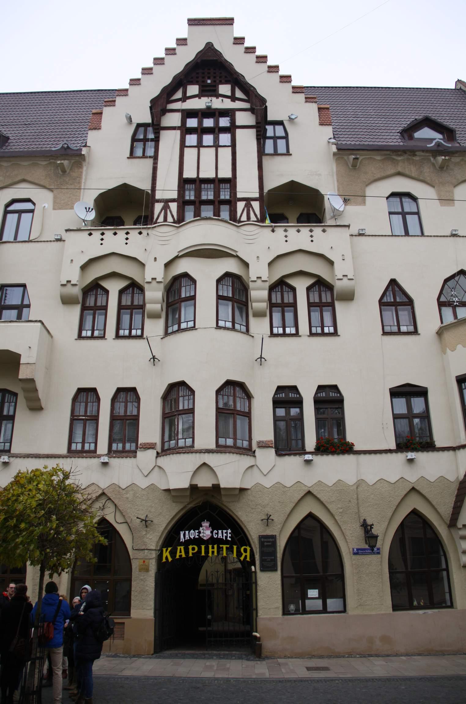Das Deutsche Haus in Czernowitz.