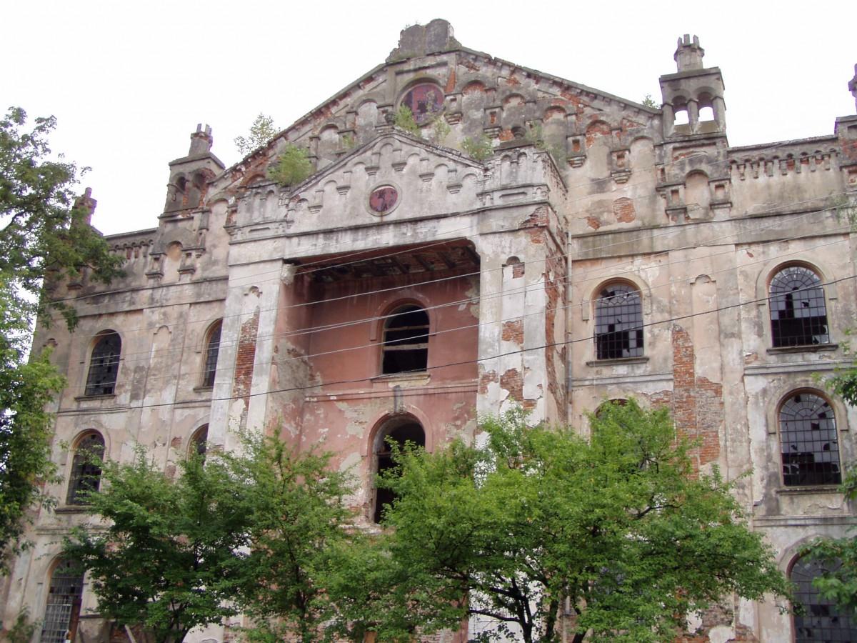 Die große Synagoge in Drohobych vor der Restauration