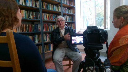 Szene während des Gespräches mit Eduard Mohr.