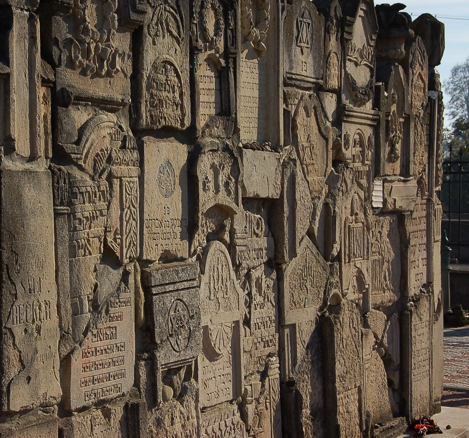 Klagemauer auf dem jüdischen Friedhof in Czernowitz.