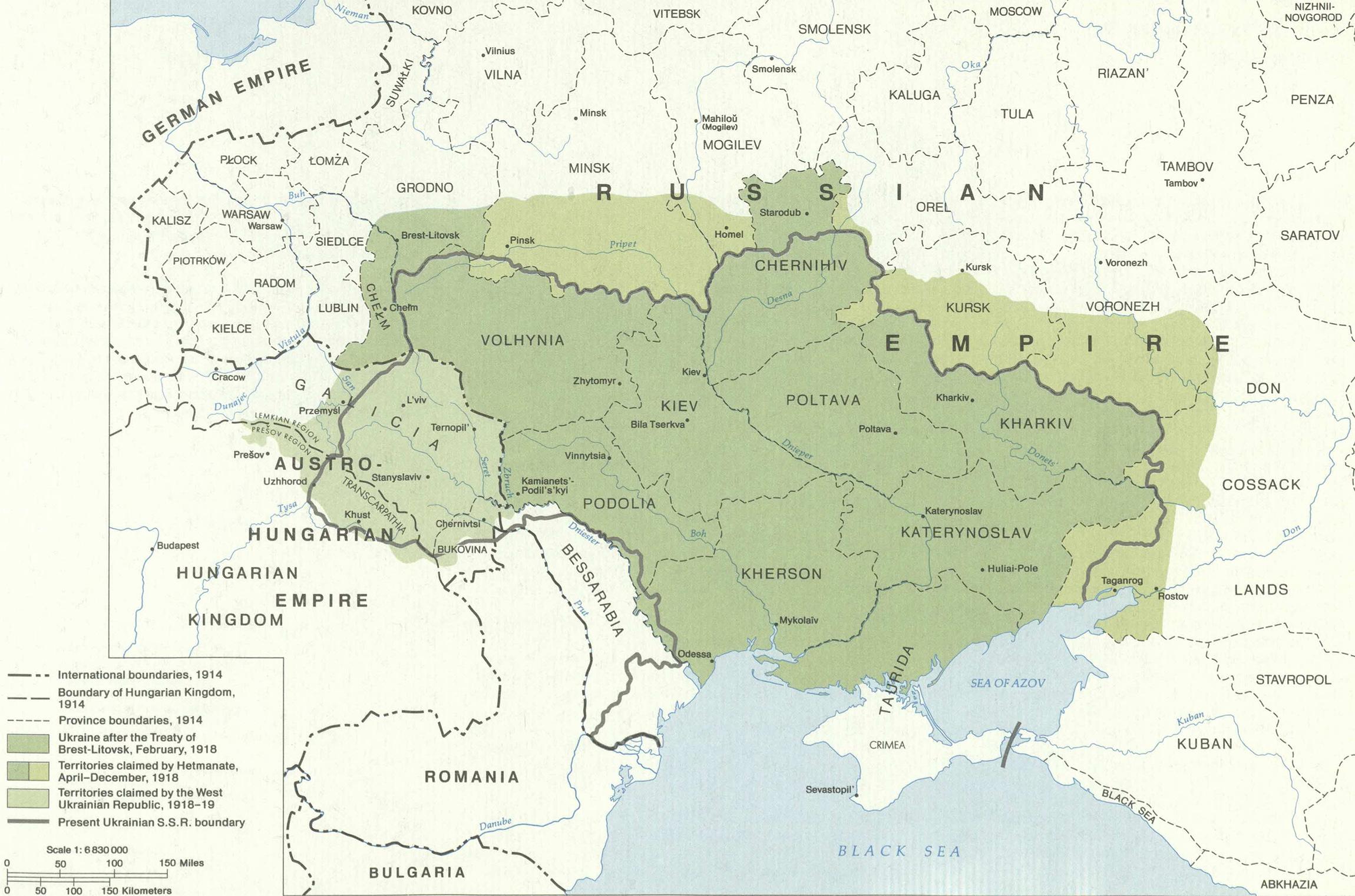 Soviet lands 1914-18
