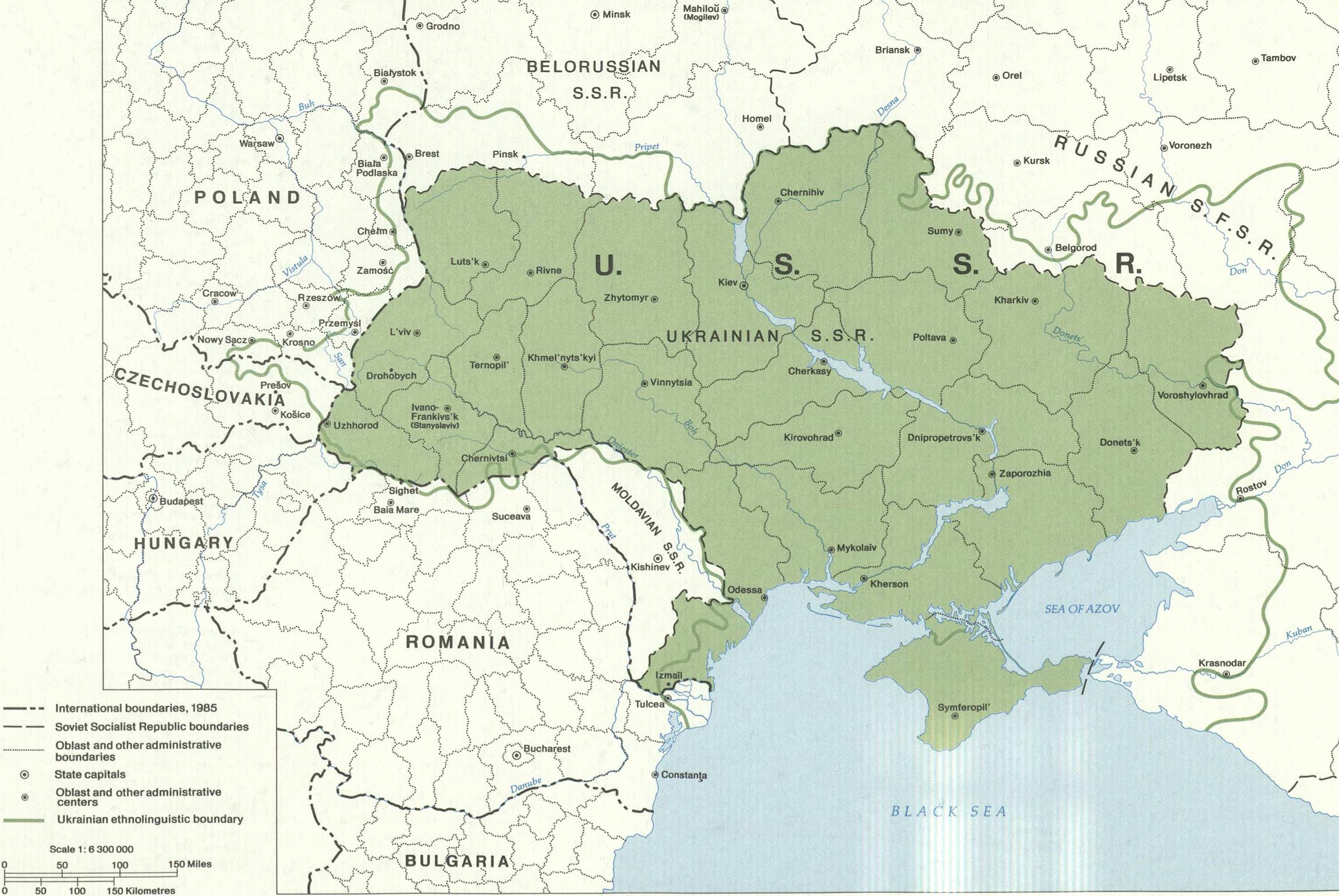 Ukrainian Soviet Republic since WWii