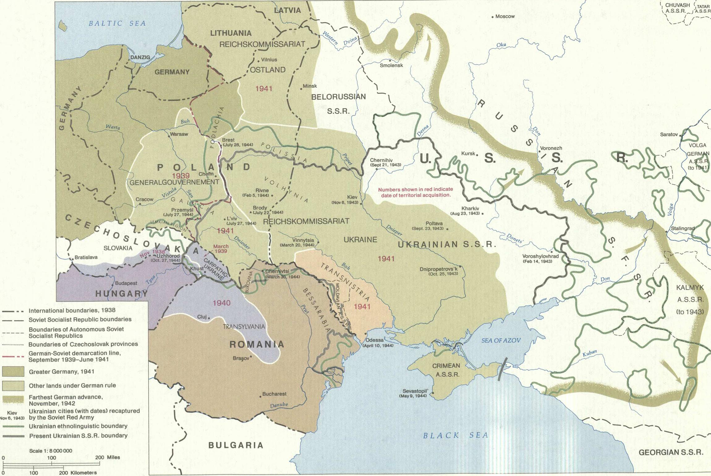 Ukrainian lands WWII