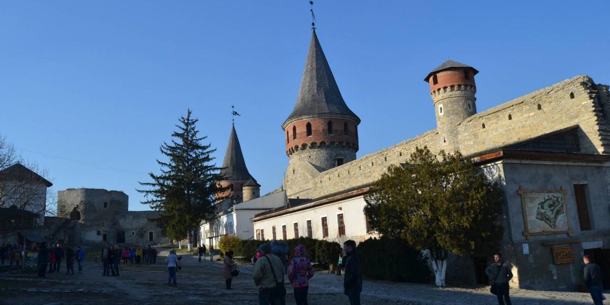 Das Innere der Festungsanlage Kamenez-Podolskyj.