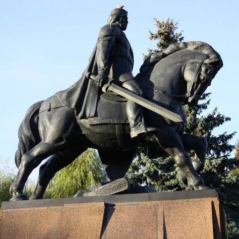 Danylo von Galizien im Zentrum Ternopils