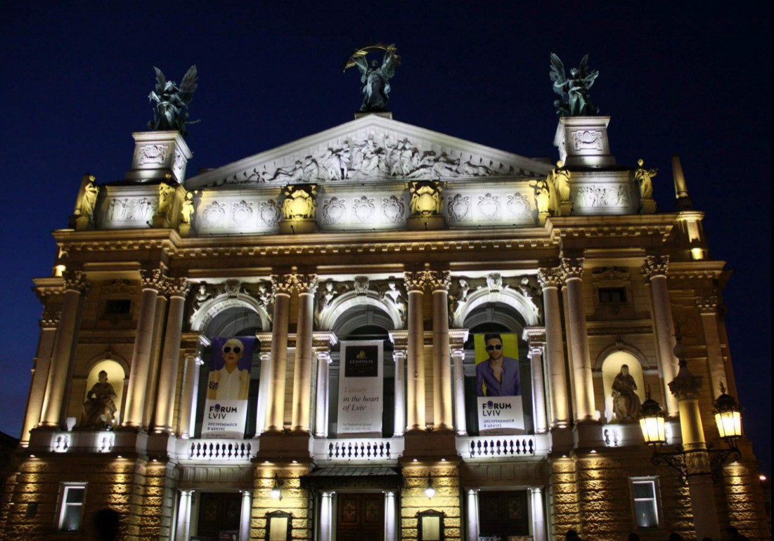 Gebäude der Oper in Lviv.