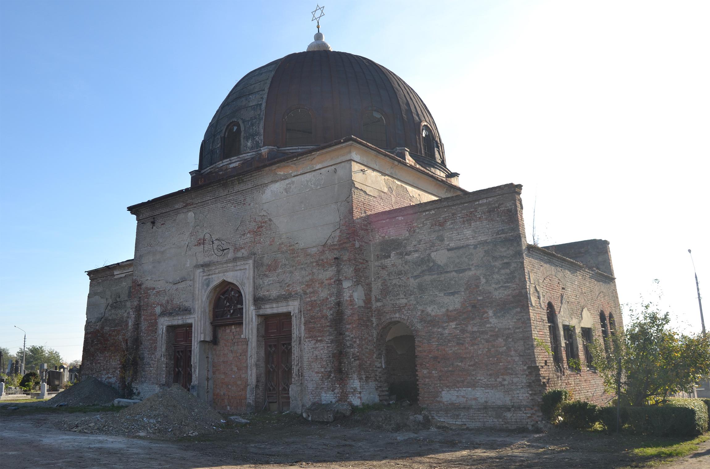 Aussegnunghalle auf dem jüdischen Friedhof.